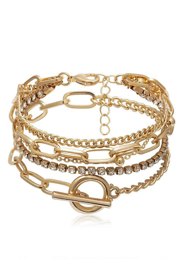 Stack It Bangle Set - Gold - Gritty Soul