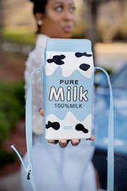 Tall Glass Of Milk Crossbody Bag - Gritty Soul Apparel