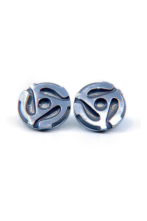 The 45s - 45 (Silver) Record Adapter Earrings - Gritty Soul