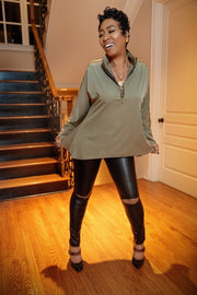 Video Vixen Open Knee Pant - Gritty Soul Apparel