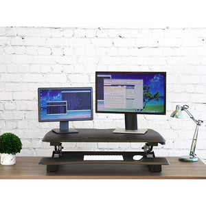 "AIRLIFT 35.4"" GAS-SPRING HEIGHT ADJUSTABLE DESK CONVERTER, BLACK"