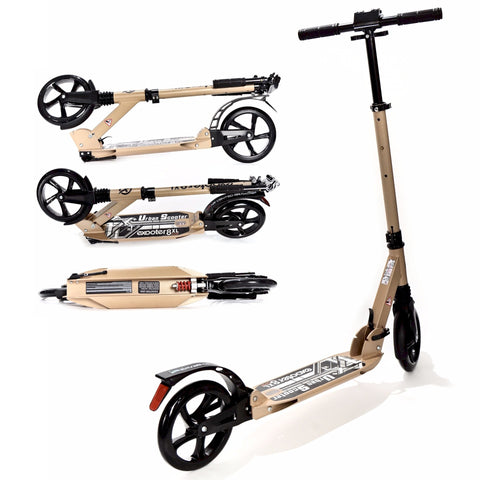 EXOOTER M1350BZ Urban 8XL Adult Cruiser Kick Scooter With Suspension Shocks In Bronze.
