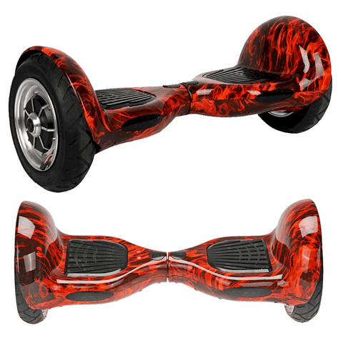 "EXOOTER M1250RC 10"" Self Balancing Electric Scooter With LG Lithium Battery In Red Carbon."