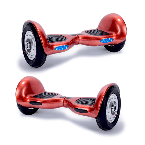 "EXOOTER M1250RD 10"" Self Balancing Electric Scooter With LG Lithium Battery In Red."