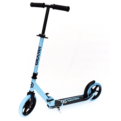 EXOOTER M1450BB 5XL Teen Kick Scooter With 200mm Wheels In Vibrant Blue.