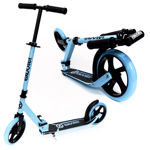 EXOOTER M1450BB 5XL Teen Kick Scooter With 200mm Wheels In Vibrant Blue. - EXOOTER USA