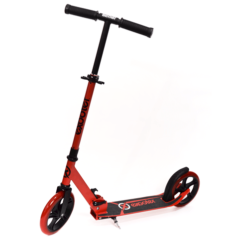 EXOOTER M1450BR 5XL Teen Kick Scooter With 200mm Wheels In Vibrant Red.