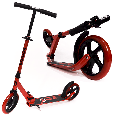 EXOOTER M1450BR 5XL Teen Kick Scooter With 200mm Wheels In Vibrant Red. - EXOOTER USA