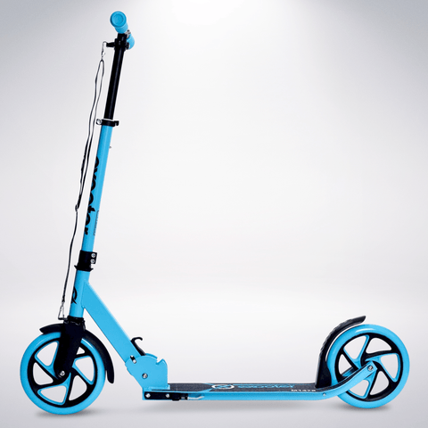 EXOOTER M1475VB 5XL Teen Kick Scooter With 200mm Wheels In Vibrant Blue.