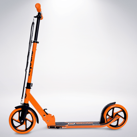 EXOOTER M1475VO 5XL Teen Kick Scooter With 200mm Wheels In Vibrant Orange.