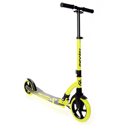 EXOOTER M1550BG 6XL Adult Kick Scooter With Front Shocks And 180mm/240mm Wheels In Vibrant Green. - EXOOTER USA