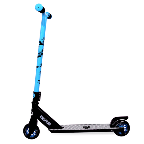 EXOOTER M1650BL Kids Trick Scooter With 110mm Alloy Wheels In Blue And Black.
