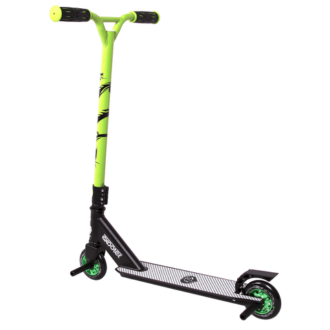 EXOOTER M1650GN Kids Trick Scooter With 110mm Alloy Wheels In Green And Black. - EXOOTER USA