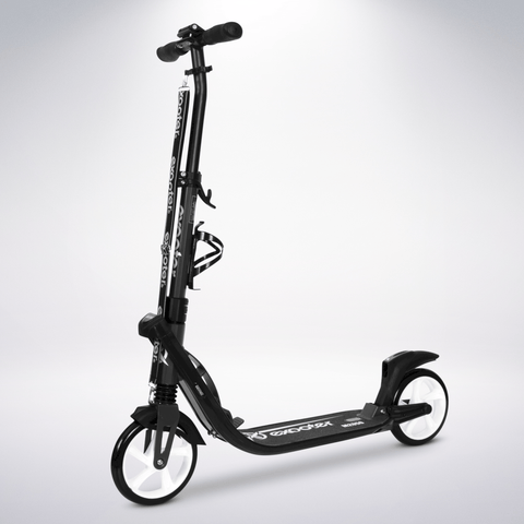 EXOOTER M2050CW 9XL Adult Cruiser Scooter With Dual Suspension Shocks And 200mm Wheels In Charcoal.