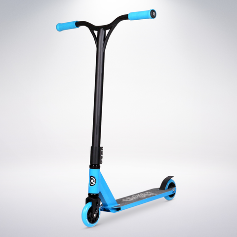 EXOOTER T3BL Trick Scooter With 110mm Aluminum Core Wheels In Blue.