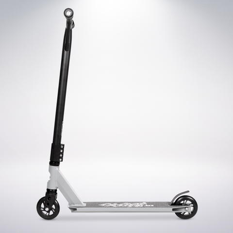 EXOOTER T3GR Trick Scooter With 110mm Aluminum Core Wheels In Gray.