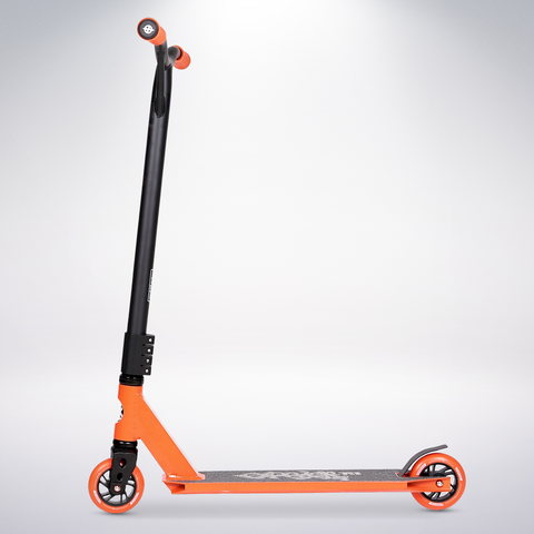 EXOOTER T3OR Trick Scooter With 110mm Aluminum Core Wheels In Orange.