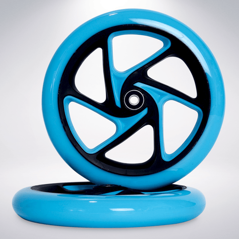 "EXOOTER W1420VB 200mm (8"") Polyurethane Replacement Scooter Wheels With Bearings."