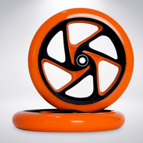 "EXOOTER W1420VO 200mm (8"") Polyurethane Replacement Scooter Wheels With Bearings."