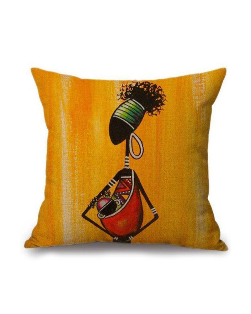 MOTHER LOVE AFRICAN INSPIRED DECORATIVE THROW PILLOW