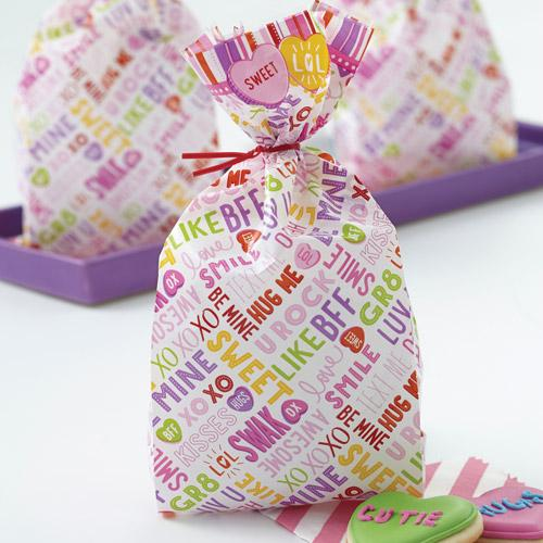 Wilton Treat Bags Words Can Express 6 stuks