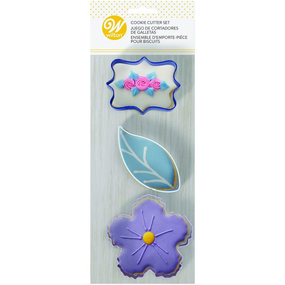 Wilton Cookie Cutters Floral Set/3