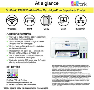 WIRELESS COLOR ALL-IN-ONE CARTRIDGE- FREE SUPERTANK PRINTER WITH SCANNER