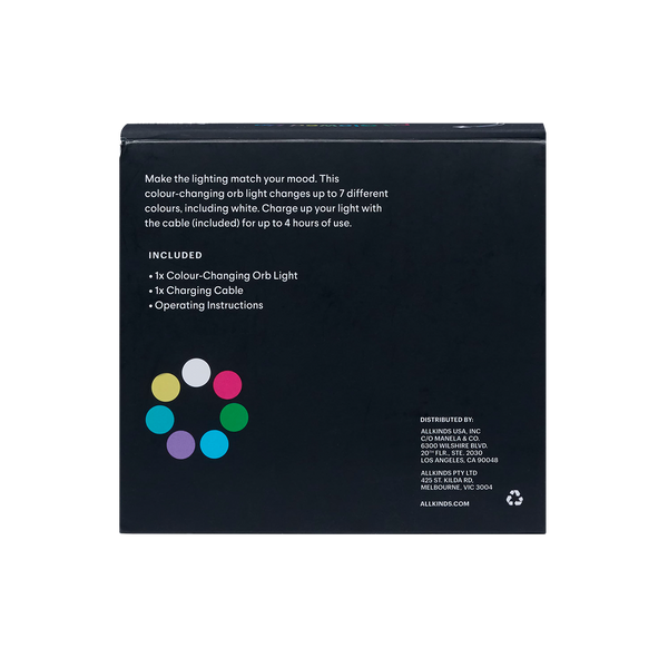 Colour Changing Orb Touch Lamp