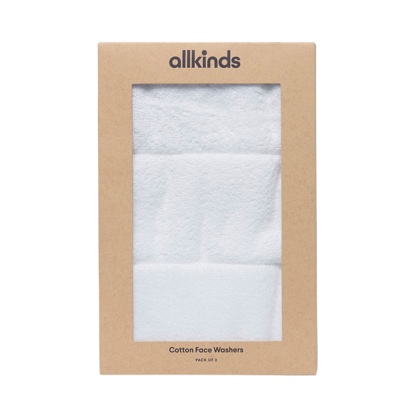 Set of 3 Cotton Face Washers