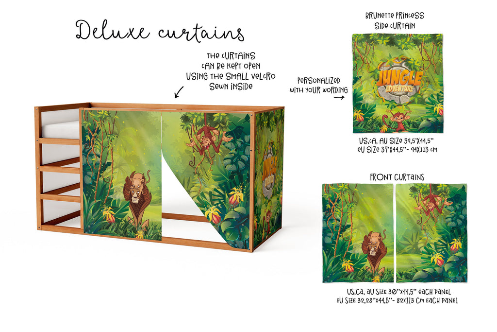 Jungle Playhouse For Ikea Kura Bed Forest Curtains Loft Tppcards