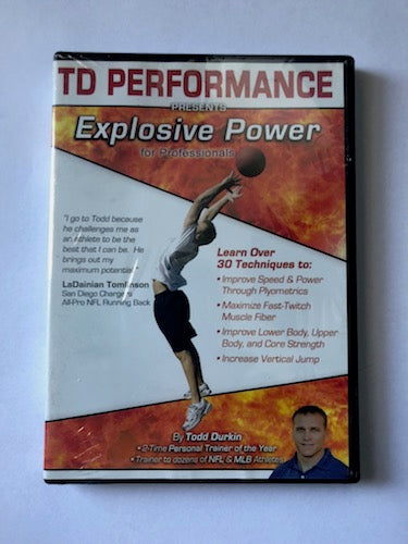 Todd Durkin TD Performance DVD - Explosive Power