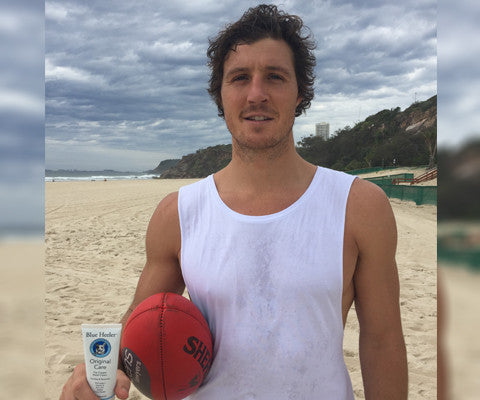 Kurt Tippett AFL Swans uses Blue Heeler Care for training and injury recovery