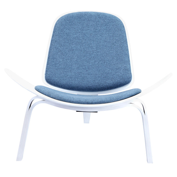 Dodger Blue Shell Chair - White