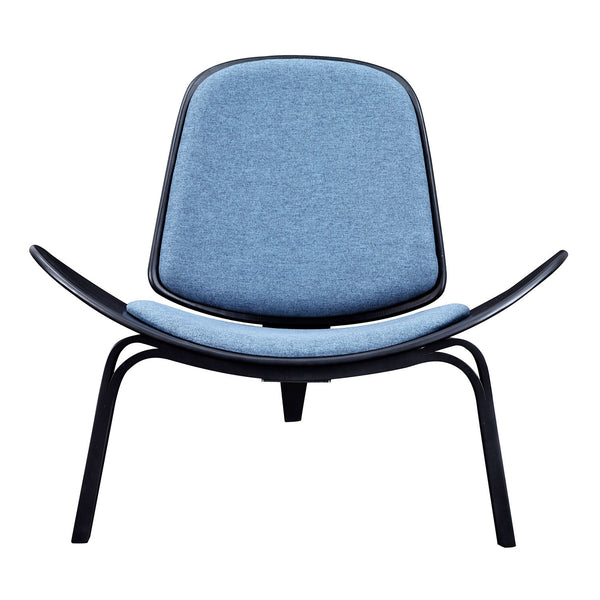 Dodger Blue Shell Chair - Black