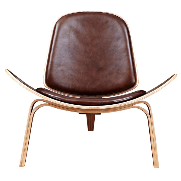 Aged Cognac Shell Chair - Walnut