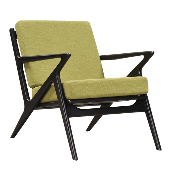 Avocado Green Zain Chair - Black