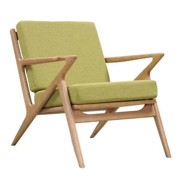 Avocado Green Zain Chair - Natural