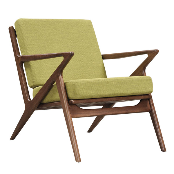 Avocado Green Zain Chair - Walnut
