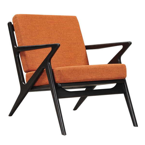 Burnt Orange Zain Chair - Black