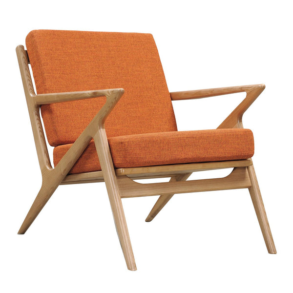 Burnt Orange Zain Chair - Natural