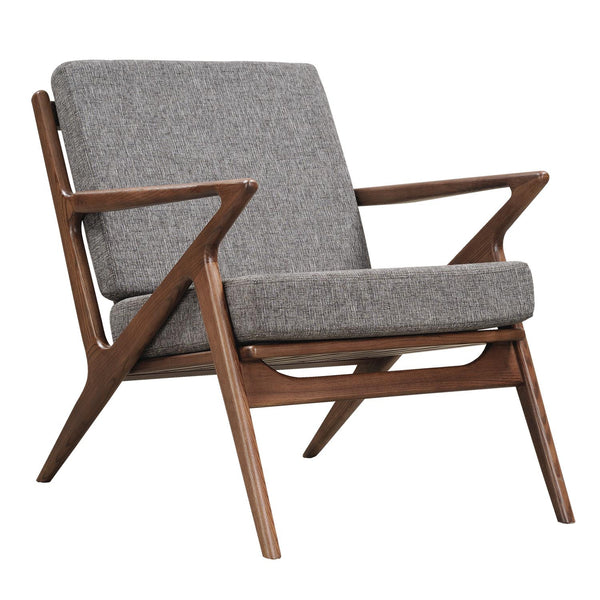 Cloud Gray Zain Chair - Walnut