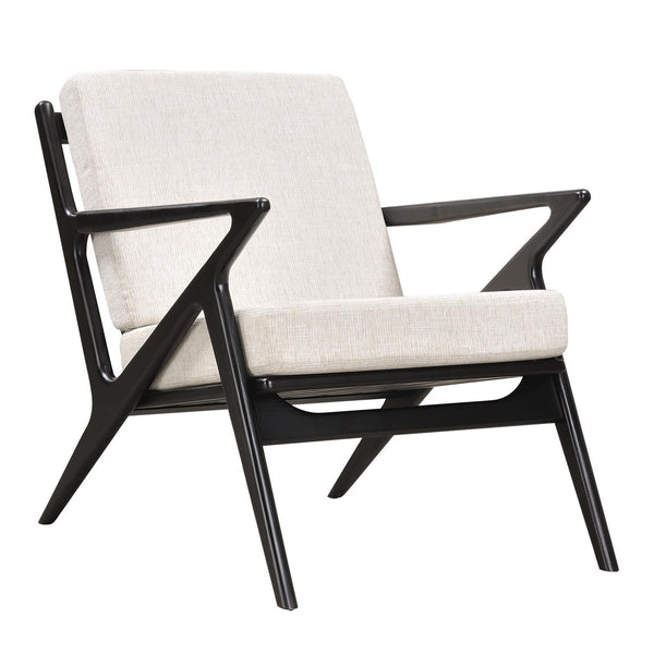 Oatmeal Gray Zain Chair - Black