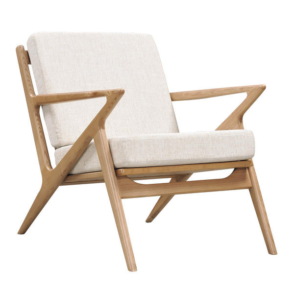 Oatmeal Gray Zain Chair - Natural