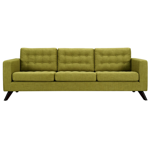 Avocado Green Mina Sofa - Black