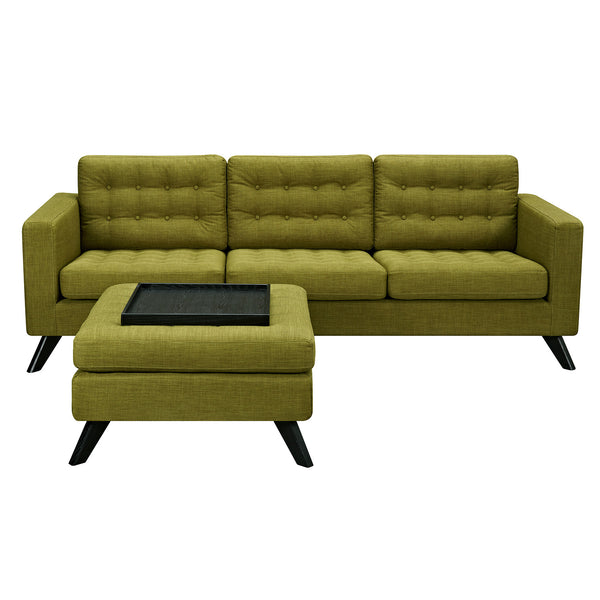 Avocado Green  Mina Sofa Set - Black