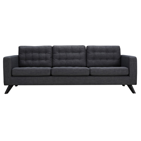 Charcoal Gray Mina Sofa - Black