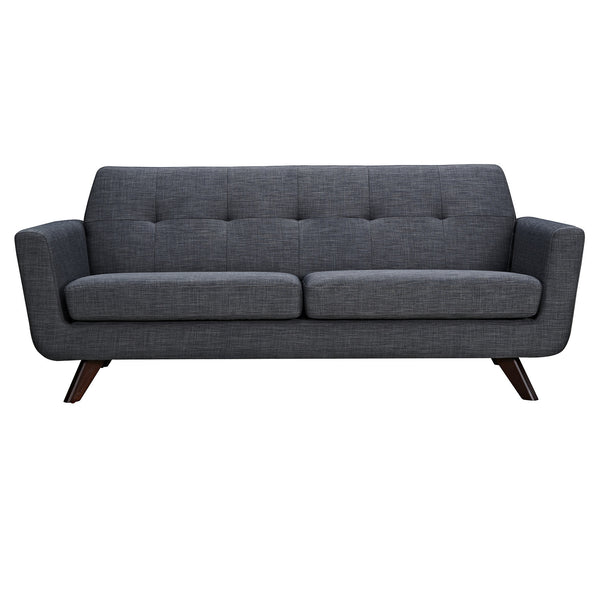 Charcoal Gray Dania Sofa - Walnut