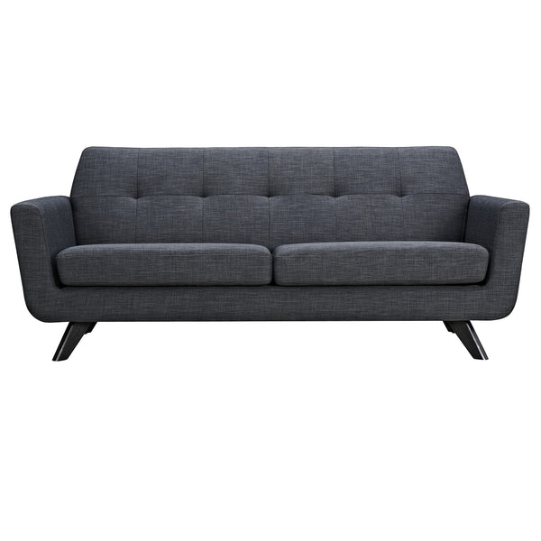 Charcoal Gray Dania Sofa - Black
