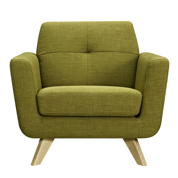 Avocado Green Dania Armchair- Natural