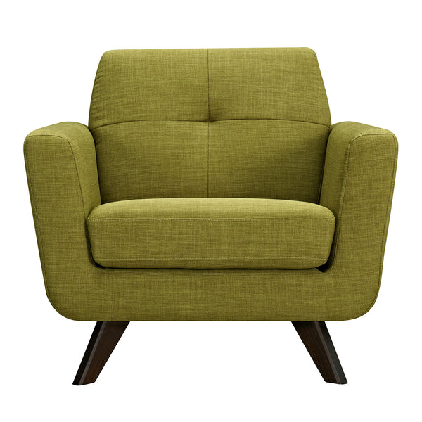 Avocado Green Dania Armchair - Walnut